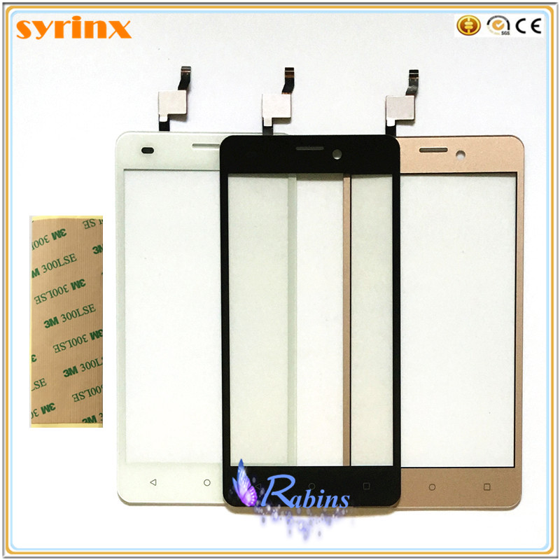 SYRINX 3m TAPE Touchscreen Sensor Panel 5.0 inch Front Glass Touch Screen Digitizer For Prestigio Wize M3 PSP3506 DUO PSP 3506