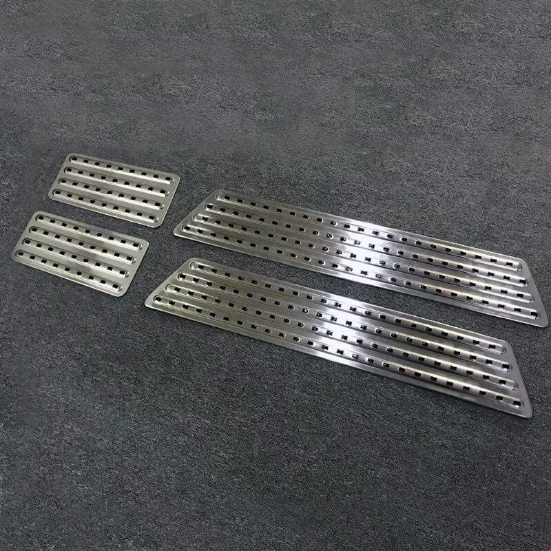 aço inoxidável soleira da porta placa de chinelo limiar capa 4 pçs set