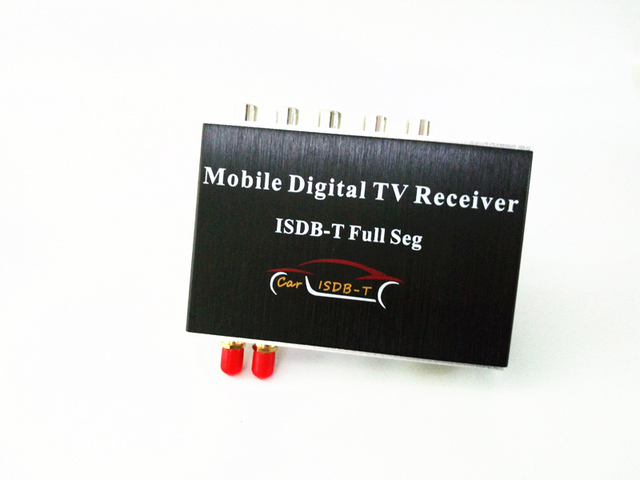 140-190km/h Car Digital TV Tuner FULL SEG ISDB-T Dual Antennas Receiver Box for Brazil Chile Argentina Peru for Car DVD Player