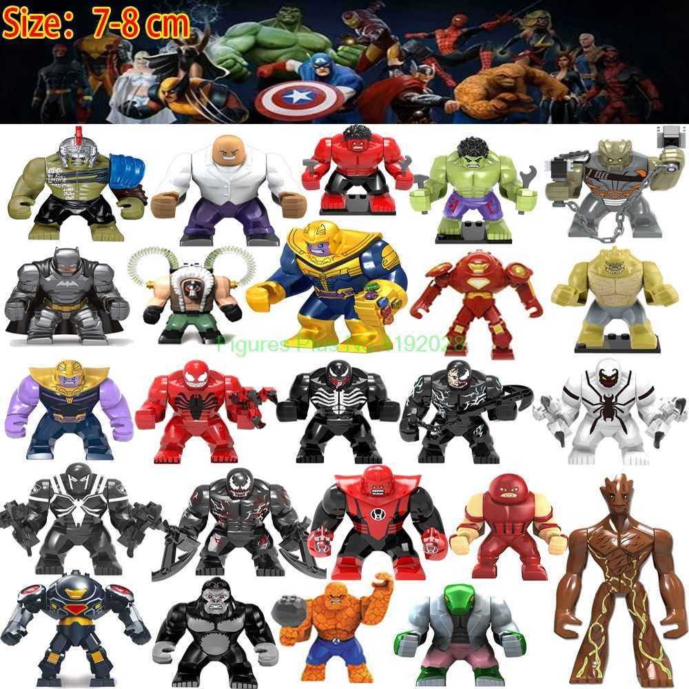 Big Size Marvel Figures Avengers Endgame Thanos Venom Carnage Energy Stones Gloves Batman Iron man Bricks Building Blocks Toys