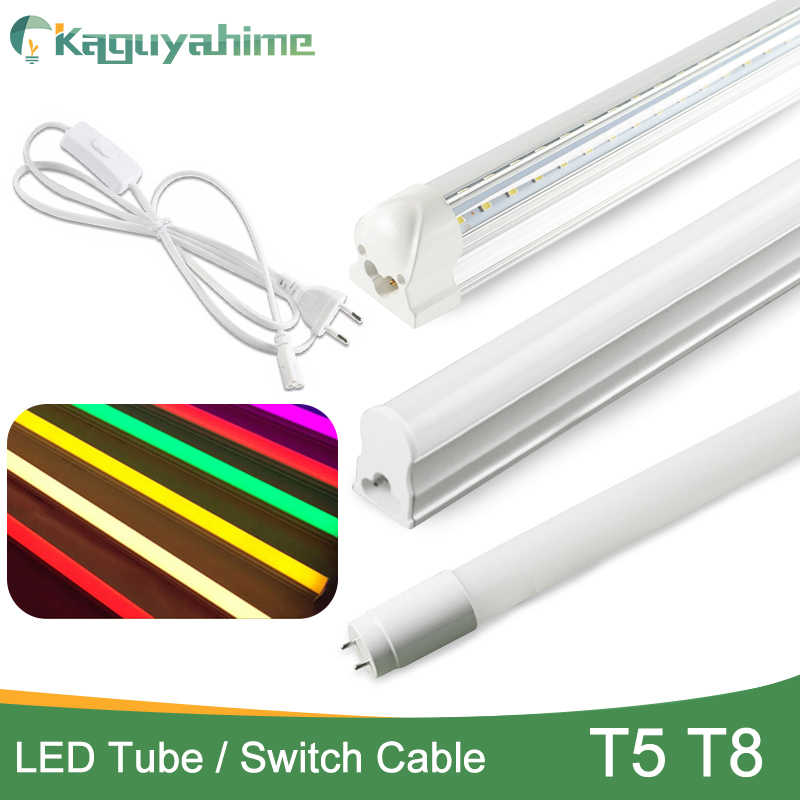 Kaguyahime Super Bright 6w 10W 20w LED Integrated Tube T5 T8 LED Light 110V 220V 240V 60cm 1FT 2FT LED Fluorescent Lamp Ampoule