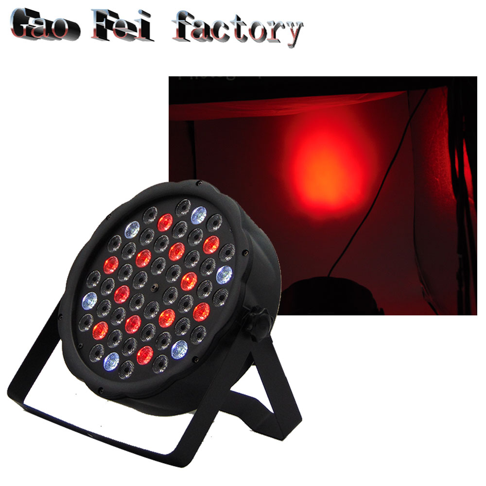 Professional 54 RGB PAR DMX Stage Lighting Effect DMX512 Master-Slave Led FlatProfessional 54 RGB PAR DMX Stage Lighting Effect DMX512 Master-Slave Led Flat