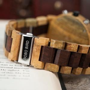 Image 5 - Relogio masculino BOBO VOGEL Uhr Männer Top Luxus Marke Holz Uhren Chronograph Quarz Uhren männer Geschenke Drop Verschiffen
