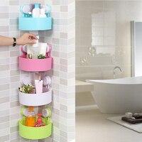Força otário prateleiras do banheiro parede pendurado rack de armazenamento banho útil