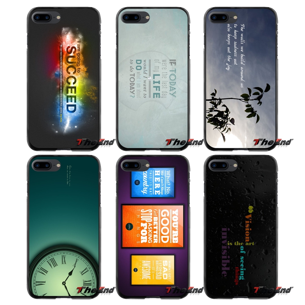 Motivational Quotes Poster For Apple iPhone 4 4S 5 5S 5C SE 6 6S 7 8 Plus X iPod Touch 4 5 6 Accessories Phone Shell Covers