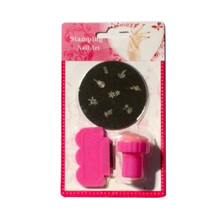 Nail Art Stamping Image Plate Set - + Stamper Scraper for Manicure / Pedicure