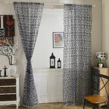 Curtains Fashion Peony Flower Window Door Room Divider Sheer Panel Drapes Scarfs For Living