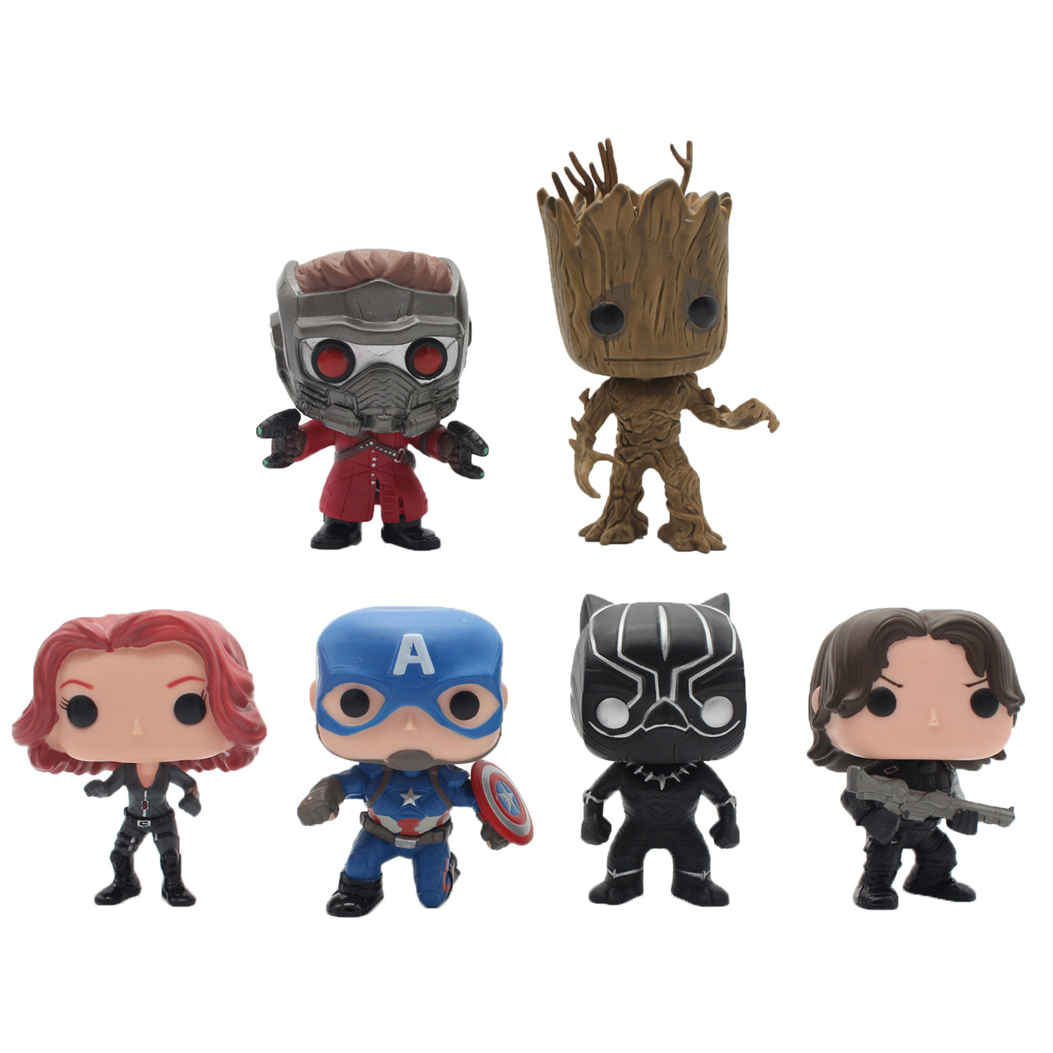 Chanycore Funko pop Groot Guardians of the Galaxy Avengers Captain America Black Widow Panther Winter Soldier Vinyl figure toy new funko pop guardians of the galaxy tree people groot