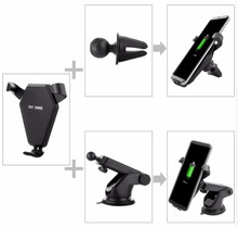 Car Mount Wireless Charger for iPhone 8 Plus X Fast Wireless Charging Pad Car Holder Stand For Samsung S9 S8 Plus S7
