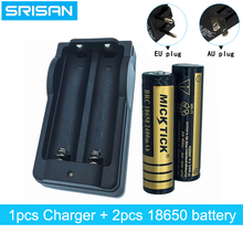 2PCS 18650 3.7V 2400mah Rechargeable Battery lithium li-ion Batteries+18650 Intelligence universal charger AU/EU plug chargers стоимость