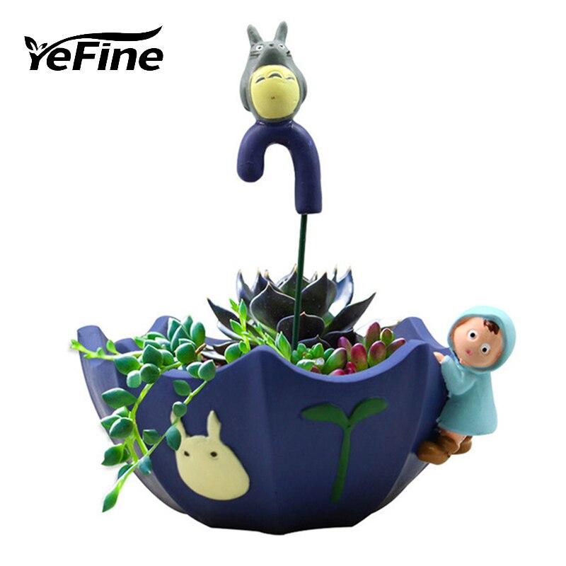 YeFine Resin Flower Pots Decorative Cartoon Animal Umbrella Succulent Planters Flowerpot In The Garden Home Garden Bonsai Pots