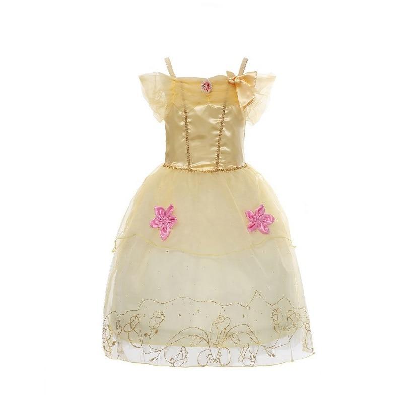 MUABABY Meisjes Rapunzel aankleden Kinderen Sneeuwwitje Prinses - Kinderkleding - Foto 6