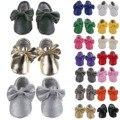 2016 de alta qualidade do bebê recém-nascido unisex prewalker sapatos sola de couro pu borboleta nó sem logotipo muitas cores para opcional 0-18 m
