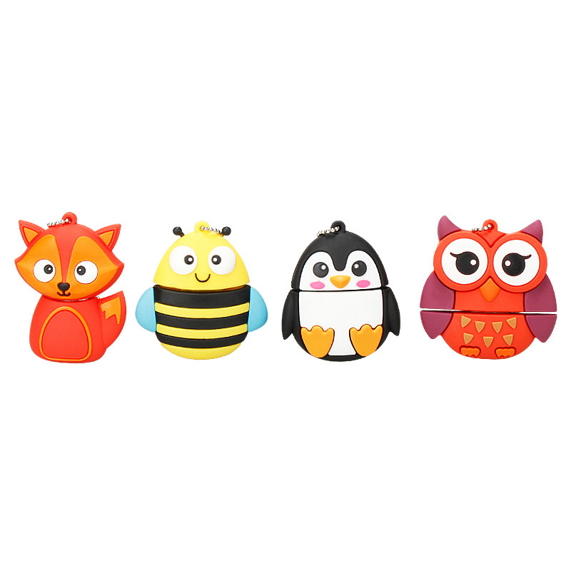 Image 3 - Usb Flash Drive Cute Cartoon Owl Pen Drive 4gb 8gb 16gb 32gb 64gb 128gb Usb Stick High Quality Usb 2.0 Flash Disk Free Shipping-in USB Flash Drives from Computer & Office