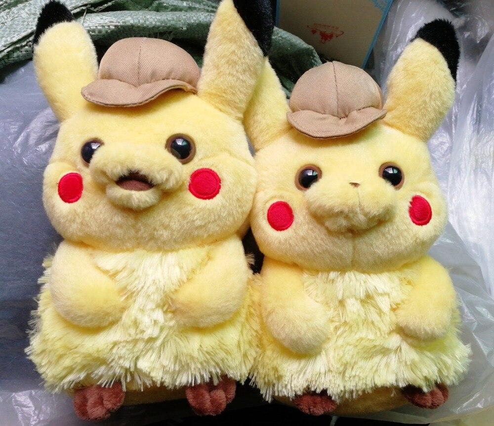 6 pcs lot Movie Detective Pikachu Figures Toy Pikachu Figure High Quality Plush Doll Model Children