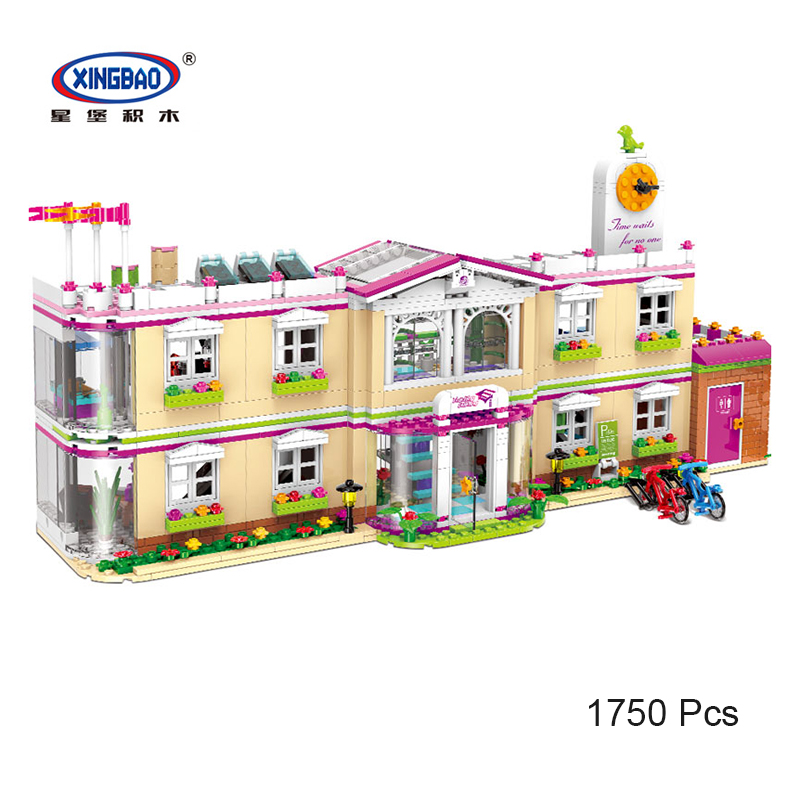 XINGBAO 12001 New City Girls Series The Happy Teaching Building Set Building Blocks Bricks birthday gifts 1750 Pcs