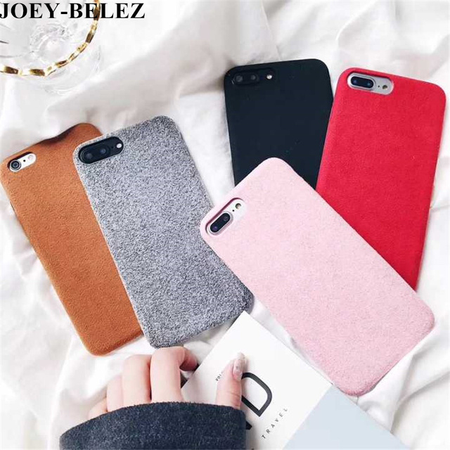 sports shoes b957a 2bb1e US $1.75 25% OFF|For iPhone 8 Case Cute Plush Fluffy Protective Back Cover  for iPhone 6 6SPlus Winter Warm Fur Phone Case for iPhone X case 7Plus-in  ...