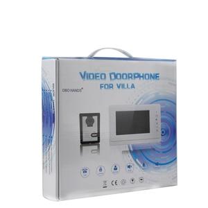 Image 5 - 7 kablolu renkli video kapı telefonu interkom sistemi seti seti dış ünite ile RFID kart okuyucu video kapı zili IR kamera + güç