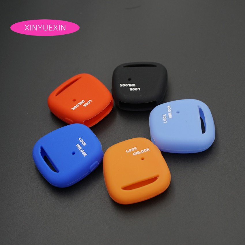 Xinyuexin Silicone Car Key Cover Fob Case for TOYOTA Altezza Wish Carina One Button on Side Remote Key Car Styling