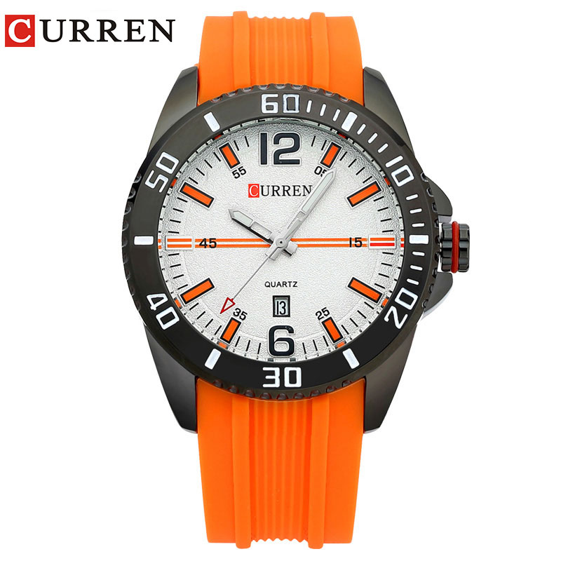 CURREN Fashion Casual Quartz Watch Men Sports Watches Waterproof  Watch Brand Clock Men Wristwatch8178 weide new men quartz casual watch army military sports watch waterproof back light men watches alarm clock multiple time zone