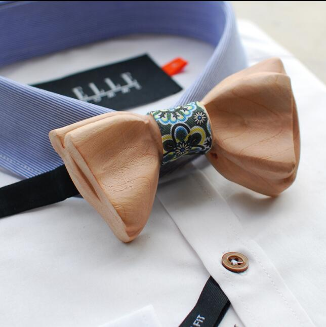 High end Fashion Carving WOODEN BOW TIE Butterfly Men&Woman Wedding tie
