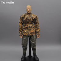 1: 6 combat suit 1/6 scale soldier's Camouflage coat Jacket in autumn pants suit for man soldier's figurine clothing in flight