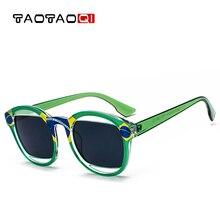 TAOTAOQI Brand Plastic Cat Eye Sunglasses Women Fashion Designer Big Box Round Glasses Men Retro Style New Sunglasses UV400