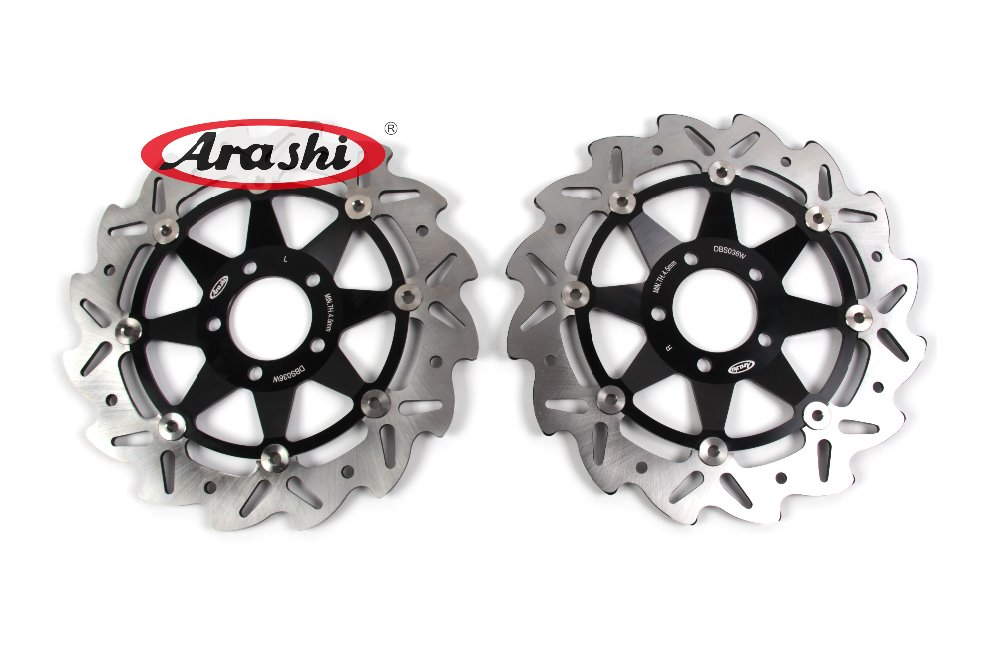 Arashi 1Pair For KAWASAKI ZZR 600 2000 2001 2002 2003 2004 2005 2006 ZZR600 CNC Front Brake Disc Brake Rotors arashi cnc rear brake disc brake rotors for honda cb250 cb400 cb500 cb500s 1991 2000 2001 2002 2003 2004 2005 2006
