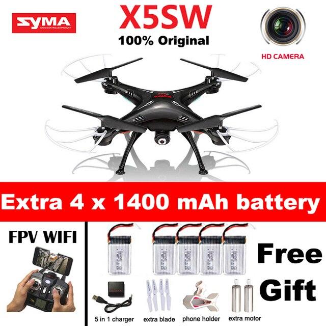 SYMA X5SW X5SW-1 WI-FI RC Drone Мультикоптер с FPV Камеры обезглавленный 6-осевой Реального Времени Вертолет Quad вертолет Toys против x5c