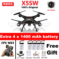 Syma x5sw x5sw-1 wifi rc drone quadcopter com câmera fpv headless 6-axis rc tempo real helicóptero quad copter toys vs x5c