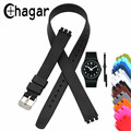 Chagar Cinta Faixa de Relógio de Silicone de Alta Qualidade 12mm Longo 12 Cores Pulseiras De Silicone Para Swatch LP131 LZ112 LB177 LW142 LP132