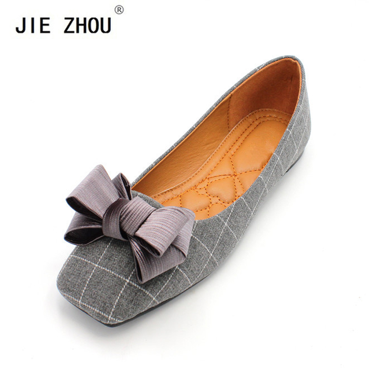 New Arrival Plaid Fabric Women Flat Heel Shoes Cozy Casual Shoes Fashion Spring and Autumn Women Flats Square Toe Women ShoesNew Arrival Plaid Fabric Women Flat Heel Shoes Cozy Casual Shoes Fashion Spring and Autumn Women Flats Square Toe Women Shoes