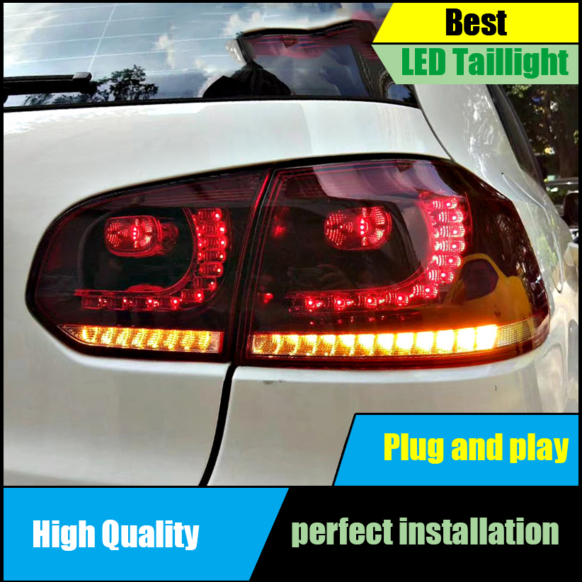 Car Styling For Volkswagen GOLF 6 MK6 R20 2009-2013 Dynamic Turn Signal TAIL Lights LED Taillight LED Rear Lamp Car assembly цена