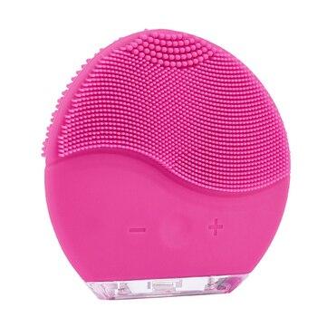 Мини 2 щетка для умывания электрическая щетка для лица перезаряжаемая для чистки лица силиконовая масажер для лица очиститель для лица Глуб...
