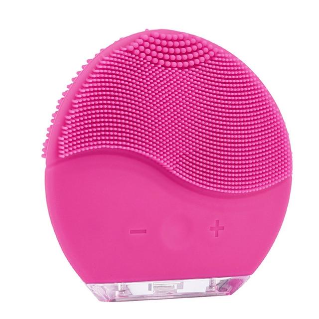 cepillo limpiador facial Luna Mini 2 limpieza facial silicona limpiador facial electrico limpieza Facial eléctrico eliminar limpiador de poros Blackhead impermeable