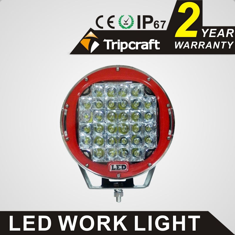 Wholesale 9inch 96W LED work light hot selling spot flood black red car light for 4x4 SUV ATV 4WD waterproof driving fog lamp hot selling good quality 18w led work light bar fog lamp for automobile