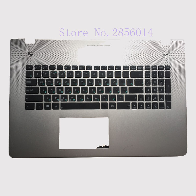 New Russian Keyboard for Asus N76 N76V N76S N76VM RU Laptop keyboard without backlit Palmrest Upper laptop keyboard for acer silver without frame bulgaria bu v 121646ck2 bg aezqs100110
