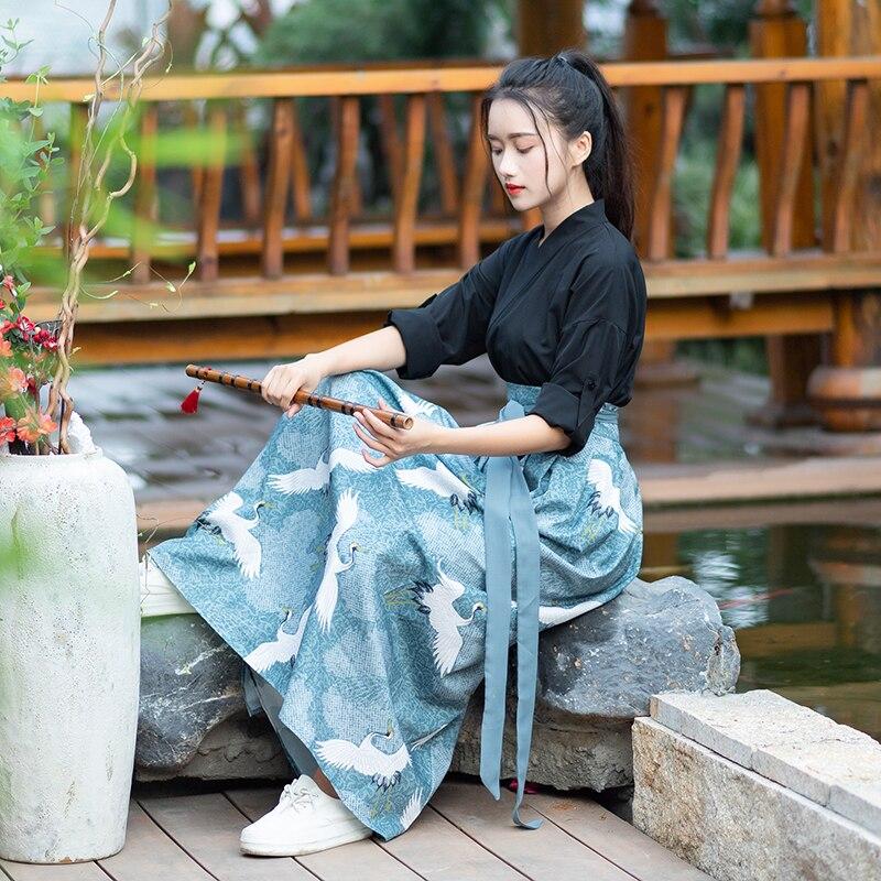 2020 Chinese Traditional Hanfu Women Qing Dynasty Costume National Chinese Dance Costumes Children Women