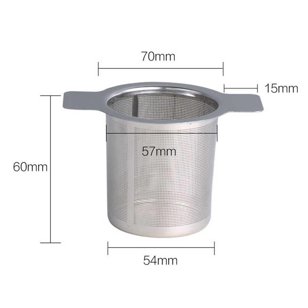 Reutilizável Cesta Infusor de Chá de Aço Inoxidável Coador de Chá de Malha Fina Com 2 Lida Com Tampa Filtros de Chá e Café para Solto folha de chá
