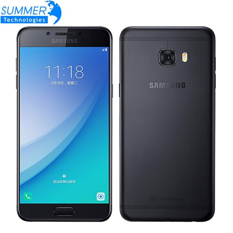 "Original Samsung Galaxy C5 Pro C5010 Mobile Phone 4GB RAM 64GB ROM Fingerprint Dual SIM 5.2"" GPS NFC 16.0MP 4G LTE Smartphone"