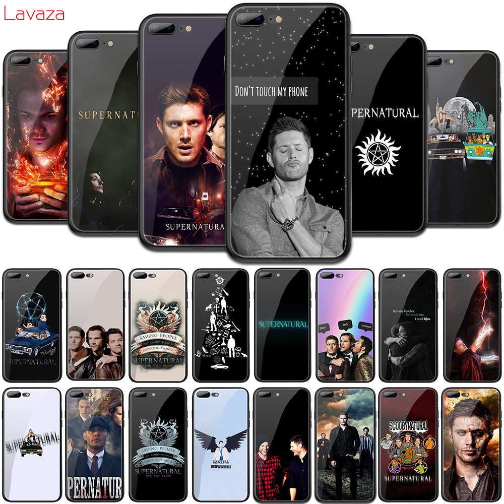 Lavaza Supernatural SPN tv Tempered Glass TPU Cover for iPhone 6 6S 7 8 Plus 5 5S SE XR X XS 11 Pro MAX Case image