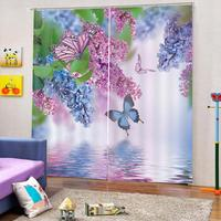 photo curtains 3d living room bedroom window curtains butterfly photo print curtains