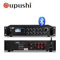 Venta Oupushi HT 3 6AT mezclador de 5 zonas sistema de Control PA amplificador Bluetooth con entrada