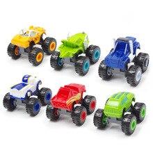 6 pièces Blaze voiture jouets 1:64 véhicules moulé sous pression jouet le monstre Machines voiture russe Miracle concasseur camion jouets voitures de course montagne