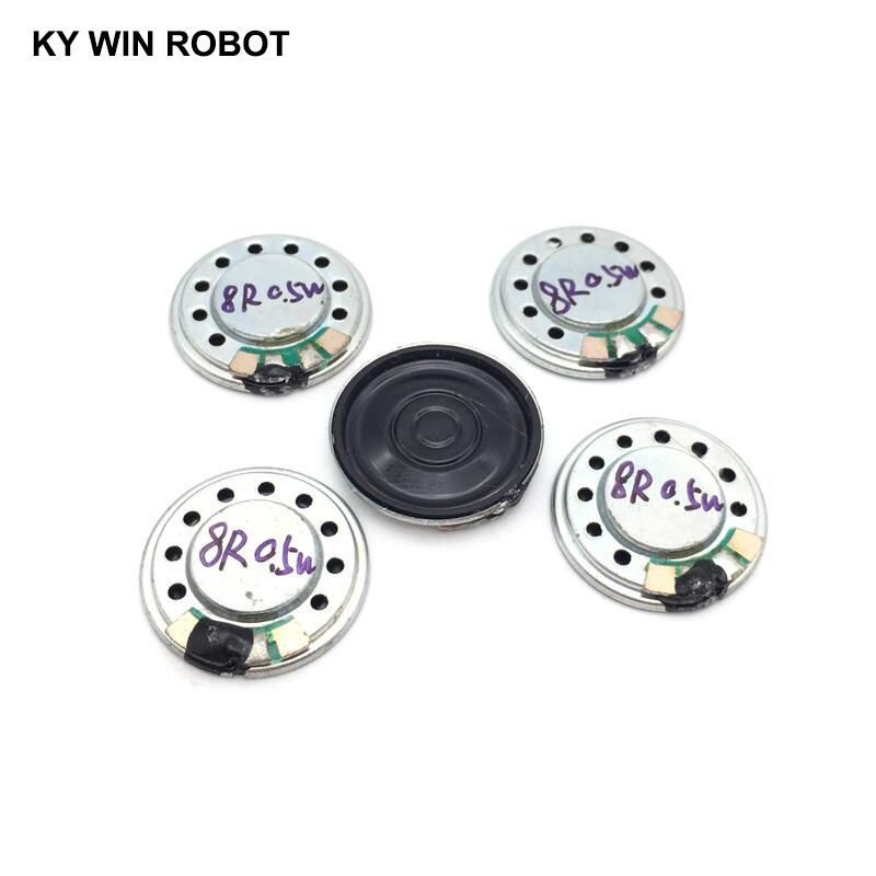 5pcs/lot New Ultra-thin Mini Speaker 8 Ohms 0.5 Watt 0.5W 8R Speaker Diameter 20MM 2CM Thickness 3MM
