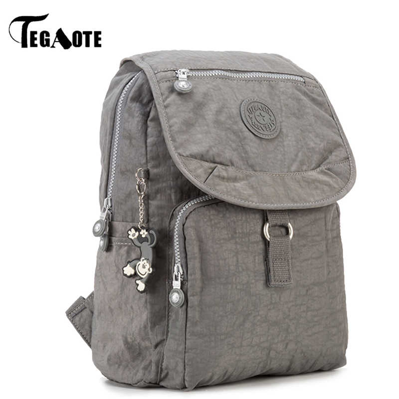TEGAOTE Small Backpack for Teenage Girls Mochila Feminina Women Backpacks Female Solid Nylon Casual Travel Bagpack Sac A Dos