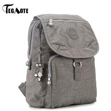 TEGAOTE Small Backpack for Teenage Girls Mochila Feminina Women Backpacks Female Solid Nylon Casual Travel Bagpack Sac A Dos