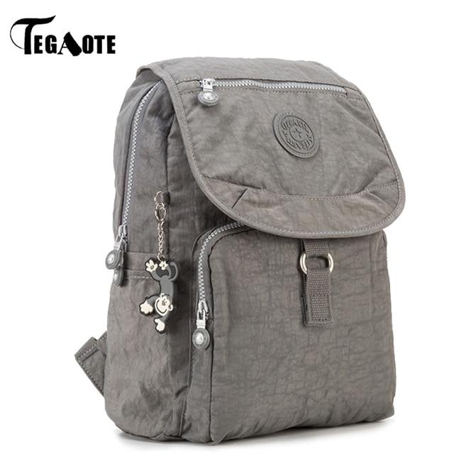 ea0ceeb6ac51 TEGAOTE Small Backpack for Teenage Girls Mochila Feminina Women Backpacks  Female Solid Nylon Casual Travel Bagpack