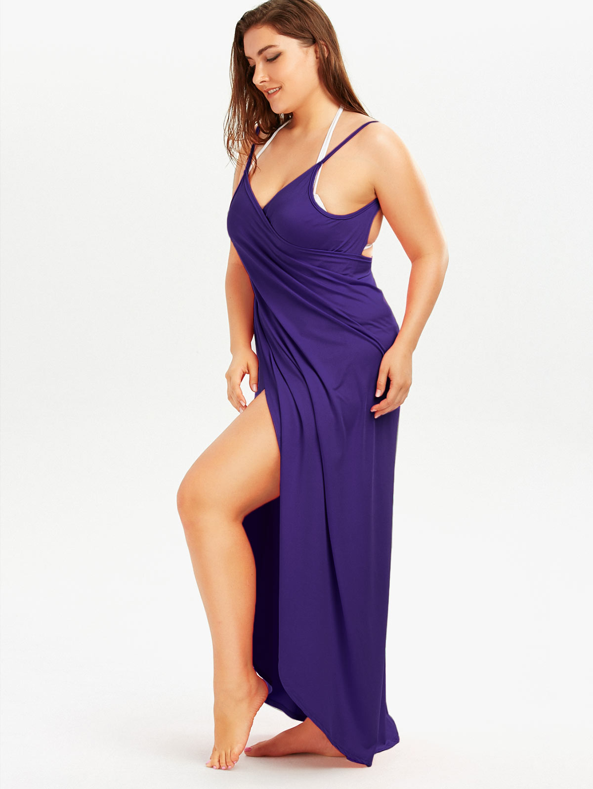 Gamiss 2018 Summer Sexy Plus Size 5XL Beach Wrap Cover Dress Long ...