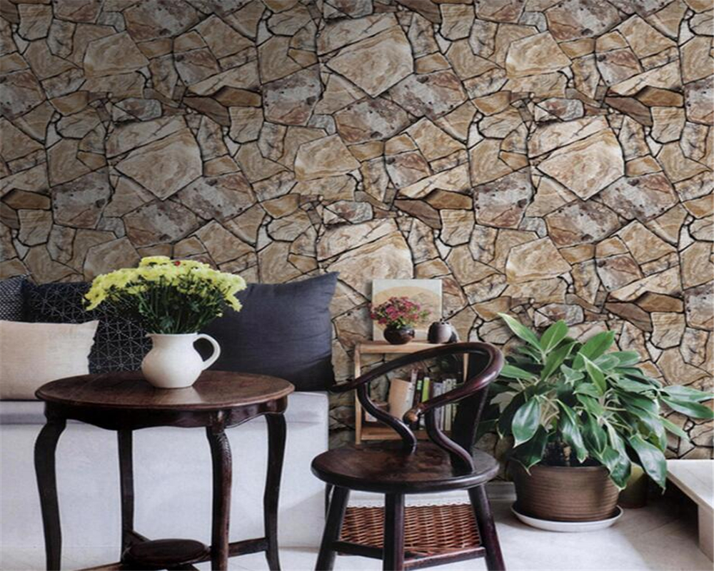 Beibehang Marble Wallpaper Living Room Restaurant Hotel Bar Brick 3D Wallpaper Home Decorative mural wallpaper for walls 3 d  beibehang wallpaper custom home decorative backgrounds powerful bear paintings living room office hotel mural 3d floor painting